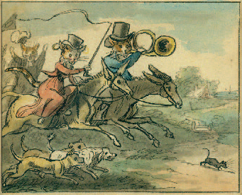 William Mulready. Watercolor of hunting cats