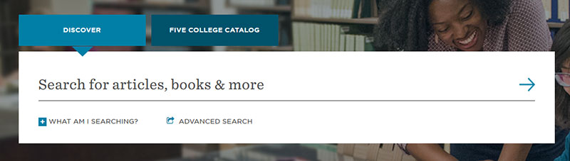 Search box on the new Libraries' website