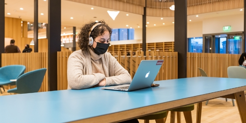 Student studying in Neilson