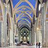 Nave of the Gothic cathedral Santa Maria sopra Minerva by Carlo Maderno