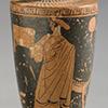 Red Figure lekythos with draped female figure