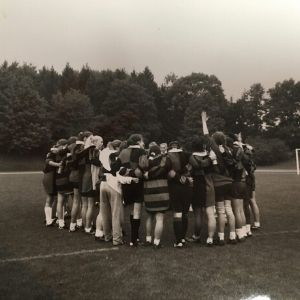 Archived image of Smith College rugby team