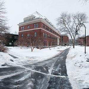 winter scene Bass Hall