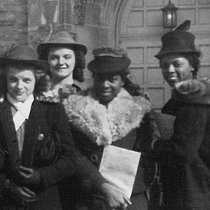 Girl Reserve conference delegates from Passaic March 1940