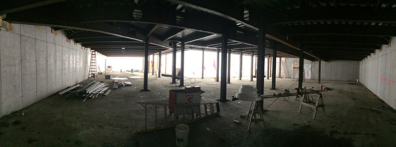 Neilson construction site - North Addition - Compact Book Stack Area