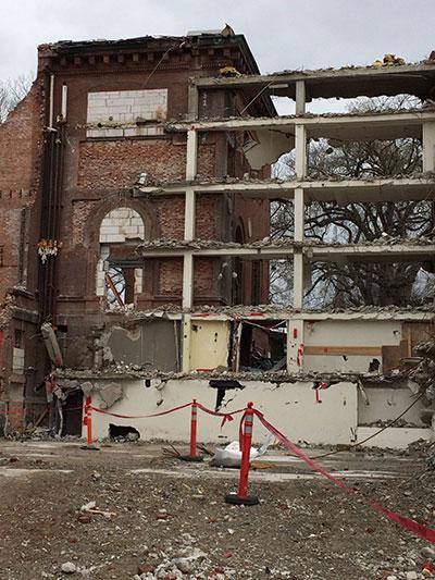 Neilson Library demolition April 2018
