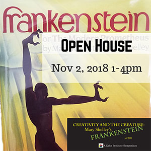 """""""Creativity and the Creature: Mary Shelley's Frankenstein at 200"""" poster"""