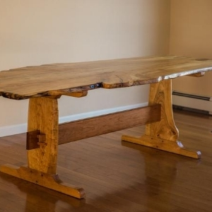 An example of live edge furniture created by Sam French