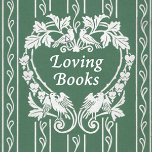 Poster for Loving Books exhibition