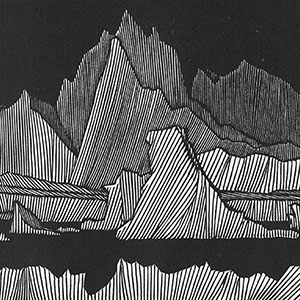 Artic Landscape. Wood engraving by Barry Moser from Frankenstein