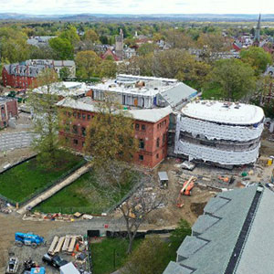 Aerial view of Neilson Library