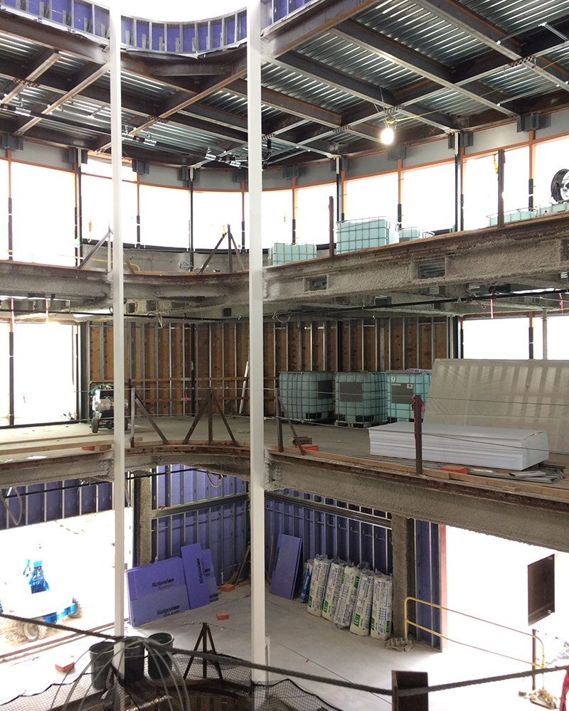 New Neilson under construction, atrium