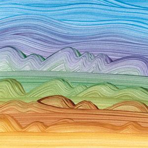 Paste paper by Carol J. Blinn