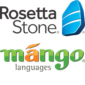 Rosetta Stone and Mango Languages logos
