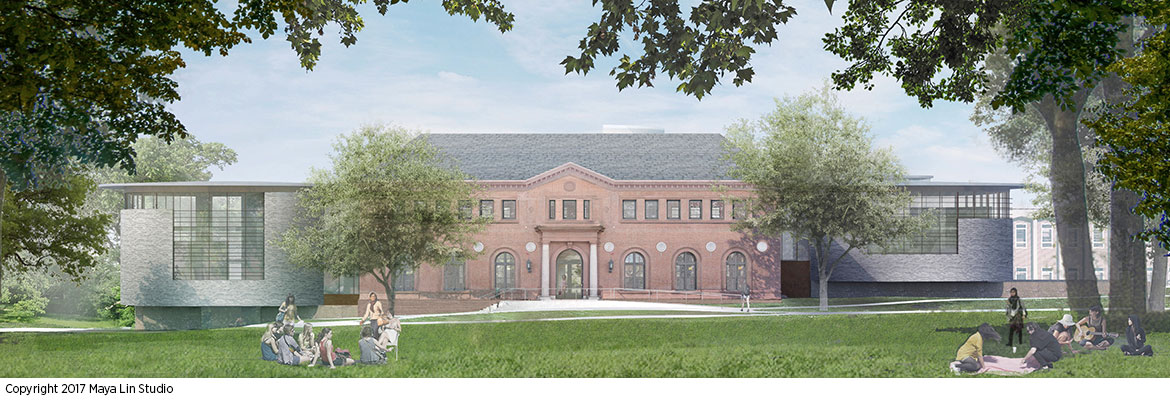 Maya Lin's design for the New Neilson Library, east elevation