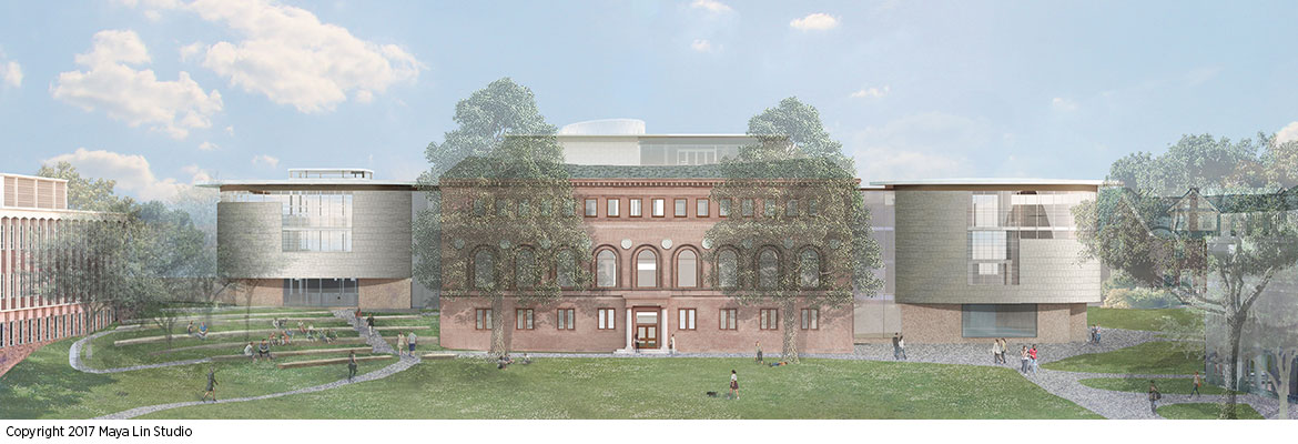 Maya Lin's design for the New Neilson Library, west elevation