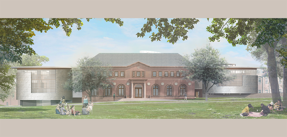 New Neilson Library east elevation view from Seelye lawn