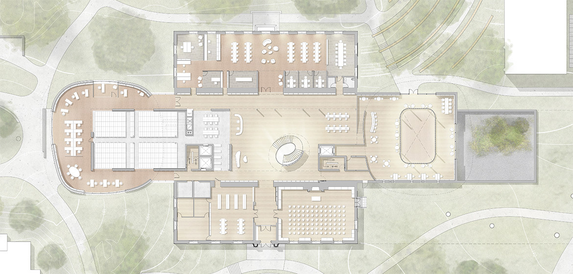 New Neilson Library first floor site plan