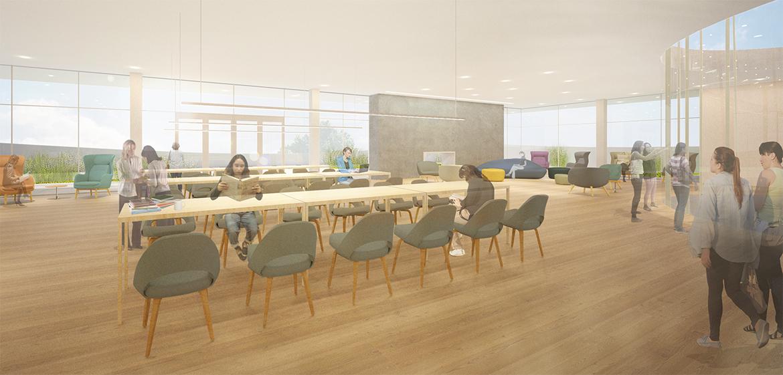 New Neilson Library skyline reading room