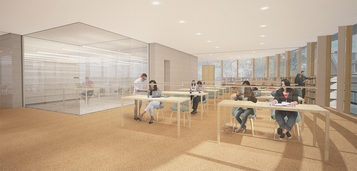 New Neilson Library south jewel box level 3
