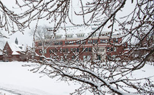 Bass Hall in winter