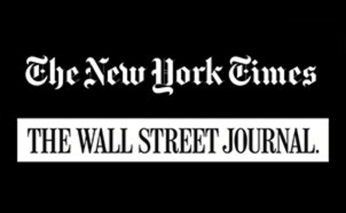 New York Times and Wall Street Journal logos