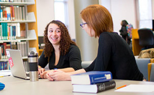 Students in Young Library