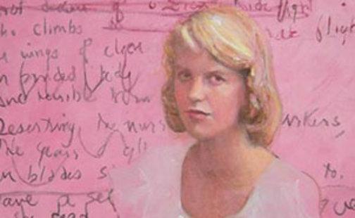 Portrait of Sylvia Plath by Susan Adler, 2012