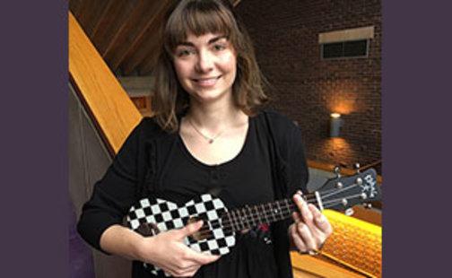 Natalia Perkins with ukulele
