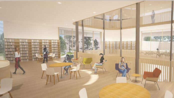Maya Lin Studios rendering of Compass Café in New Neilson Library
