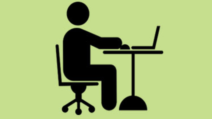 icon of person at computer