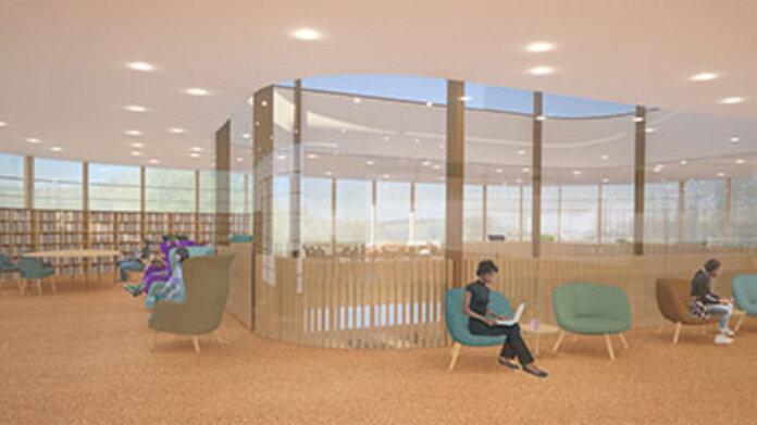 Maya Lin Studios rendering of study spaces in New Neilson