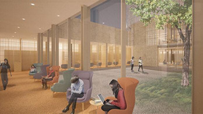 Maya Lin Studios rendering of sunken garden in New Neilson Library