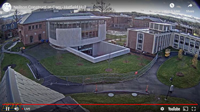 Neilson Library construction webcam, view from the north