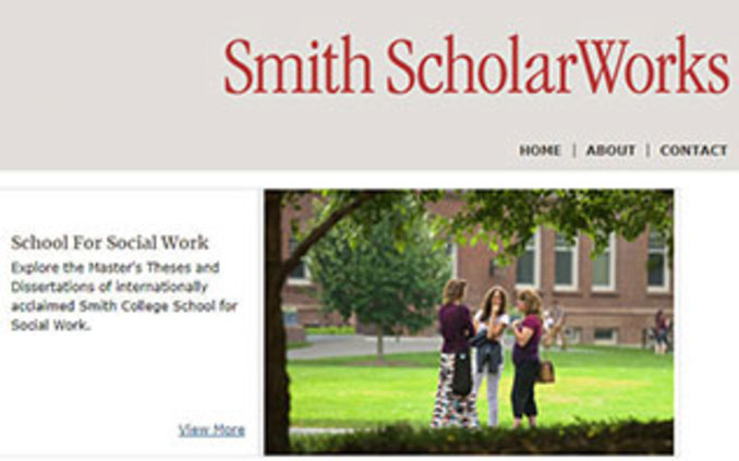 Screenshot of Smith Scholarworks