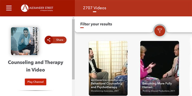 Screenshot from Counseling & Therapy in Video