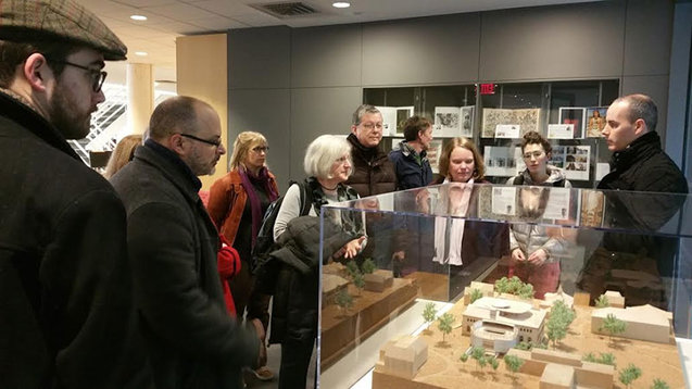 Forbes Library staff tour Hillyer Art Library