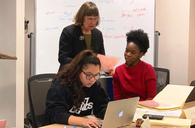 Karen Kukil teaching Plath class, January 2019