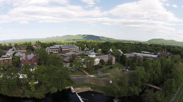 Drone photograph of Smith College campus