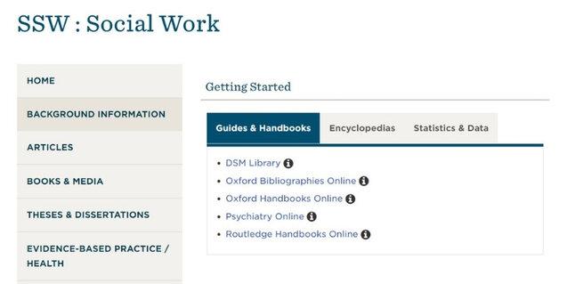 Social Work Subject Guide