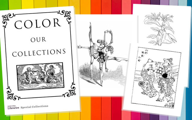 Special Collections coloring book cover
