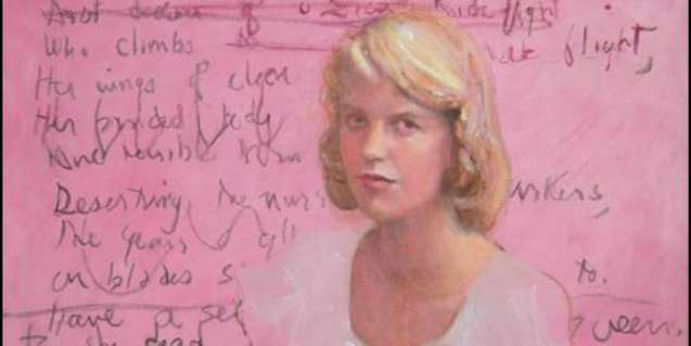 Portrait of Sylvia Plath by Susan Adler