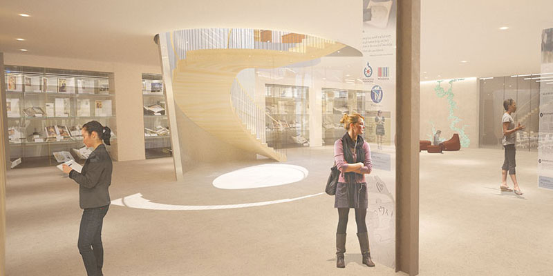 Rendering of Neilson Library Main Hall ground floor