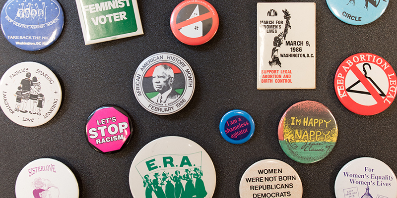 Buttons from the Sophia Smith Collection of Women's History