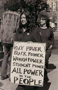 Demonstration for students, gay rights, women's rights, social justice, and human rights, New York City, 1970 © Diana Davies