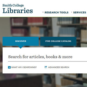 Thumbnail image of search box on Libraries' new website