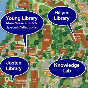Map of library locations