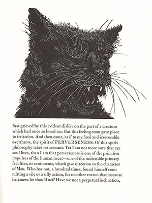 Page from Alan Robinson's The Black Cat by Edgar Allan Poe (1984)