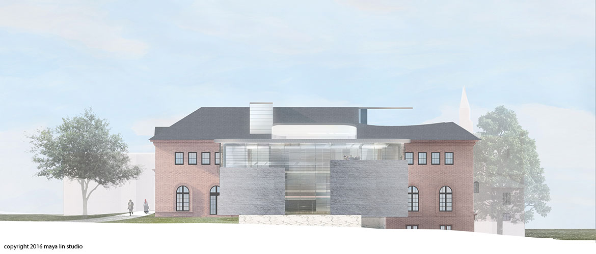 Maya Lin design for New Neilson Library north elevatioin