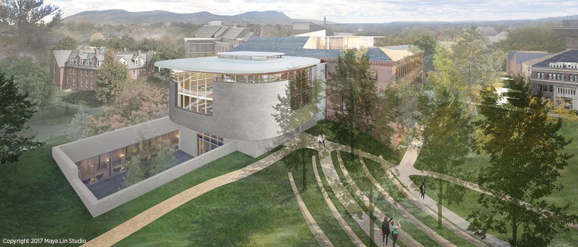 Maya Lin's design for the New Neilson Library, northwest elevation